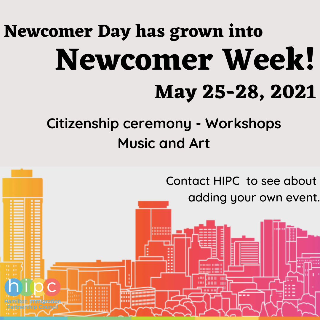 Newcomer Day has grown into Newcomer Week, May 25-28, 2021